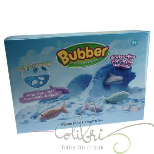 Суміш для ліплення Bubber синя, коробка (0,6 кг)
