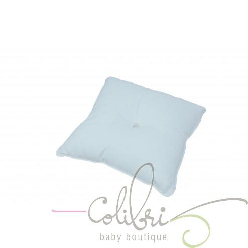 ТР декоративна подушка біла з ґудзиком flocon