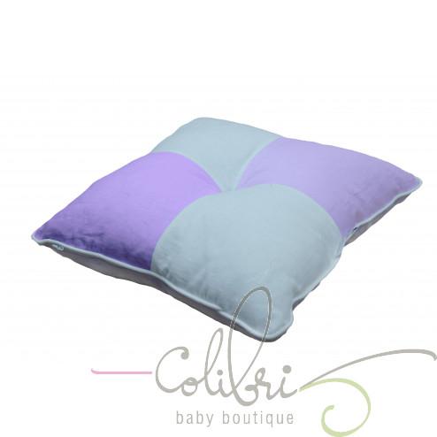 ТР декоративна подушка біла / бузкова 4 частини violette