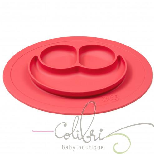 Тарелка-коврик красный