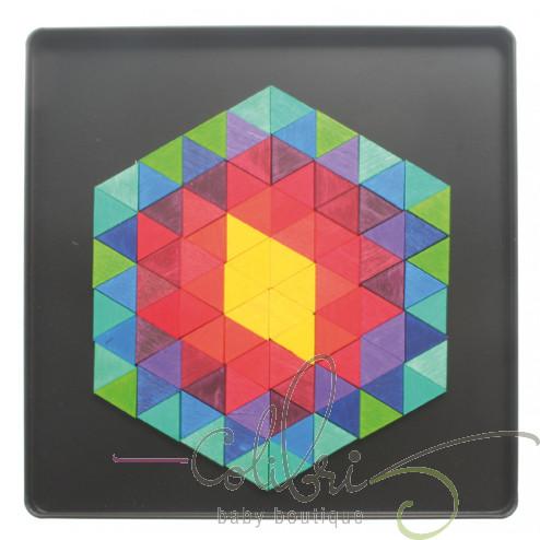 "Магнітна мозаїка ""Шестигранник-трикутники"""