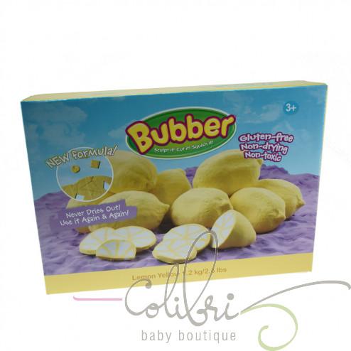 Суміш для ліплення Bubber жовта, коробка (0,6 кг)