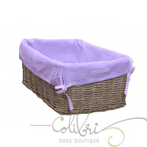 Плетеная корзина с сиреневым чехлом Violette