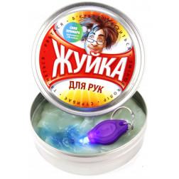 """""""Жвачка""""  для рук Синий Призрак ультрафиолет 80 г.(жестяная банка) с фонариком"""