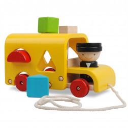 Дерев'яна іграшка Автобус-сортер