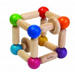Дерев'яна іграшка брязкальце-прямокутник