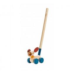 Деревянная игрушка Каталка щенок
