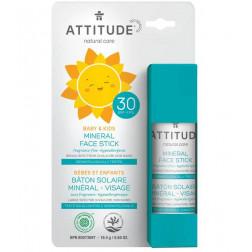 Солнцезащитный детский крем - стик, Baby & Kids Face Stick - SPF 30 - fragrance free 18,4
