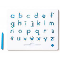 Магнітна дошка для вивчення маленьких прописних англ. букв від A до Z (колір блакитний)
