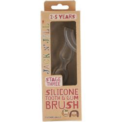 Силіконова зубная щітка (стимулятор для прорізування) Jack N' Jill від 2 до 5 років