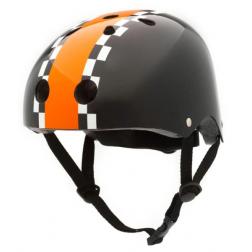 Велосипедный шлем Coconut (цвет черный с оранжевым, 47-53 см)