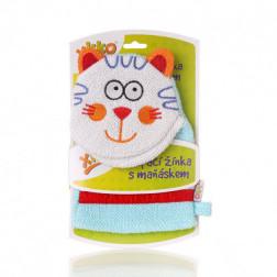 Мочалка-рукавичка хлопок ХККО Кіт