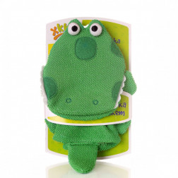 Мочалка-рукавичка хлопок ХККО Крокодильчик
