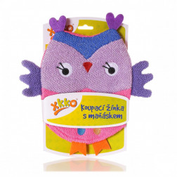 Мочалка-перчатка хлопок ХККО Сова