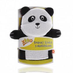 Мочалка-рукавичка хлопок ХККО Панда