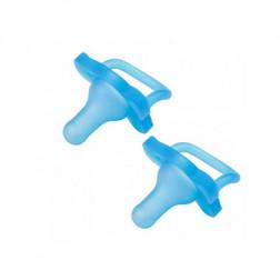 Цельная силиконовая пустышка, цвет голубой, 0-6 мес, 2 шт. в упаковке