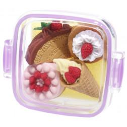 """Набор резинок в контейнере """"Десерт и закуски"""""""