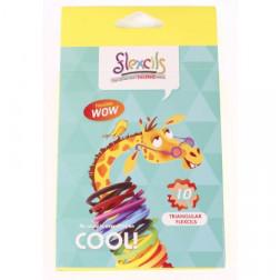 Гнучкі олівці Жираф (10 кольорів), трикутні, 14см