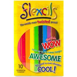 Гибкие карандаши 10 цветов, треугольные, 14см
