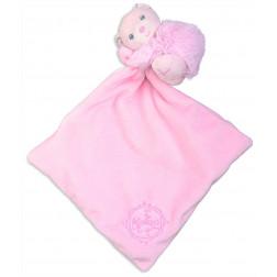 KL PERLE ведмедик-слюнявчик рожевий