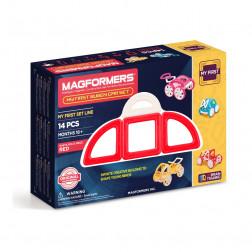 Магнитный конструктор «Мои первый красный автомобиль», 14 эл.