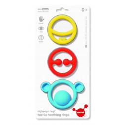 Іграшка-прорізувач Nigi+Nagi+Nogi (яскраві кольори, 3 шт в уп.)