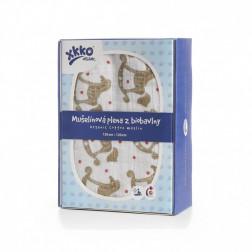 Пеленка из органического хлопка XKKO Organic 120x120 - Золотая лошадка-каталка