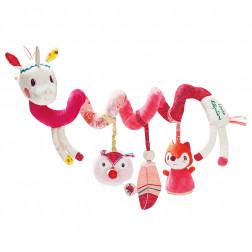 Спиральная игрушка на коляску единорог Луиза