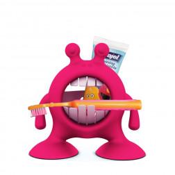 PL Подставка для зубной пасты и щетки (розовый)