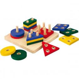 Деревянная игрушка Сортер-доска с геометрическими фигурами
