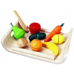 Дерев'яна іграшка Фруктово-овочеве асорті