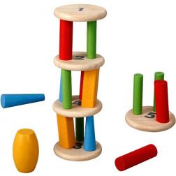 Деревянная игрушка Башня-пирамидка