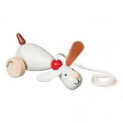 Деревянная игрушка Сидящий и ходячий щенок
