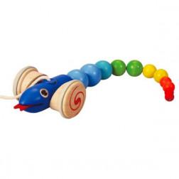 Дерев'яна іграшка КАТАЛКА ЗМІЯ