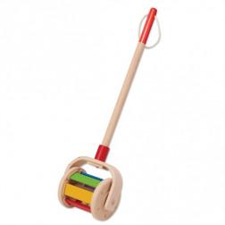 Деревянная игрушка каталка для прогулок