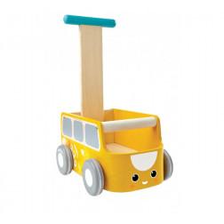 Дерев'яна іграшка Каталка-фургон жовта