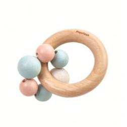 Деревянная игрушка Погремушка с бусинками