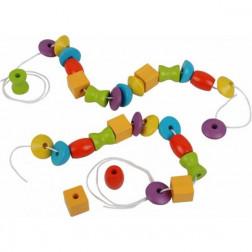Деревянная игрушка Собери ожерелье