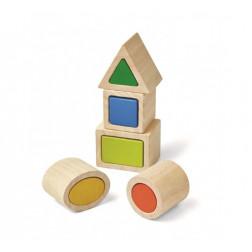 Деревянная игрушка Геометрические соответствующие коробки
