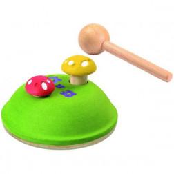 Деревянная игрушка Забивалка Грибочки