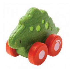 Деревянная игрушка Стегозавр на колесиках