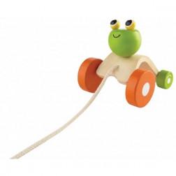 Дерев'яна іграшка ЖАБКА, ЩО СТРИБАЄ