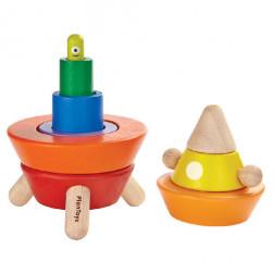 Деревянная игрушка Конусная пирамидка - сортер Ракета