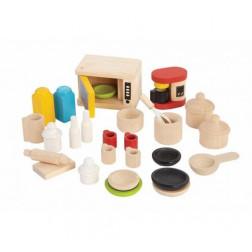 Дерев'яна іграшка Аксесуари для кухні та кухонного посуду