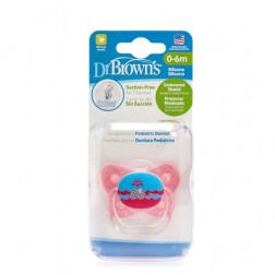 Пустышки ПриВент™ Бабочка, цвет розовый, 0-6 мес, 1 шт. в упаковке