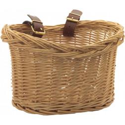 Велосипедная плетеная корзина с кожаными ремнями для Trybike