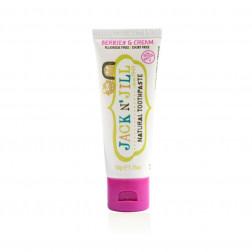 Натуральна зубна паста Jack N' Jill  (зі смаком ягід та вершків)  (50g)
