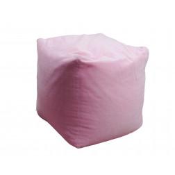 ТР пуф велюровий куб рожевий