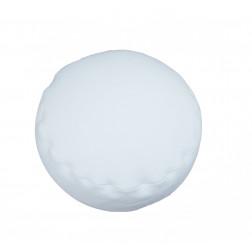 ТР пуфик велюровый круглый кремовый
